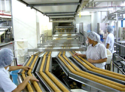 Automatic Biscuit Feeding Sandwiching System